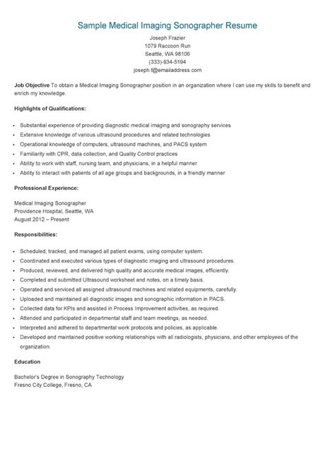 Cardiac Sonographer Resume by 17 Best Images About Resame On Skin Care