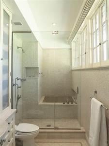 Salle De Bain Etroite : petite salle de bains avec baignoire douche 27 id es sympas projet 3 salle de bain ~ Melissatoandfro.com Idées de Décoration