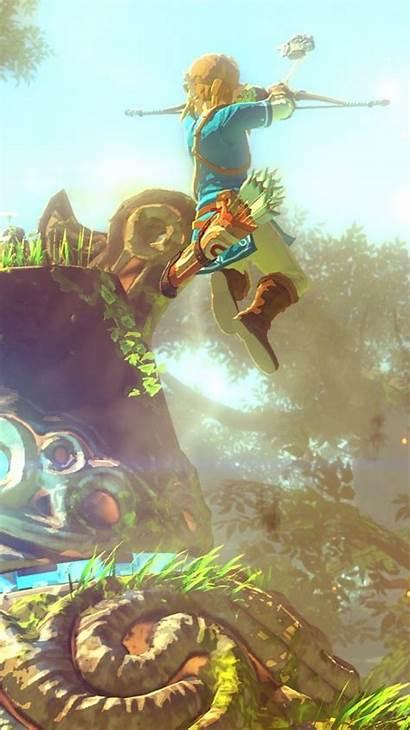 Zelda Breath Legend Wallpapers Wild Iphone Mobile