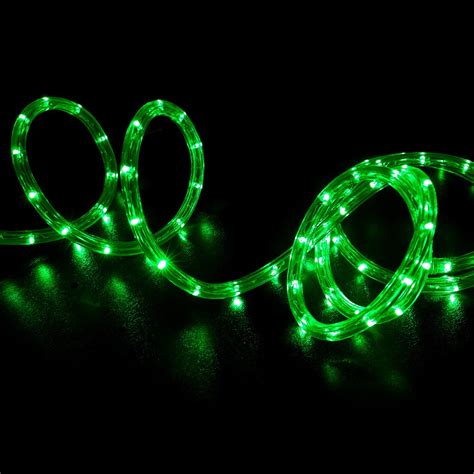 150 green led rope light home outdoor