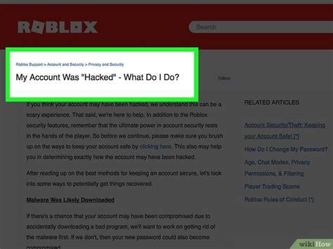 como recuperar una cuenta de roblox pirateada  pasos