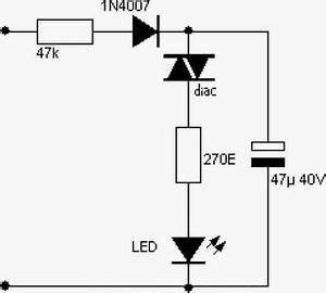 220v ac powered blinking led circuit diagram With 230v blinking led