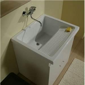Bac A Laver : bac laver c ramique sur meuble 75 cm riba buanderies ~ Melissatoandfro.com Idées de Décoration