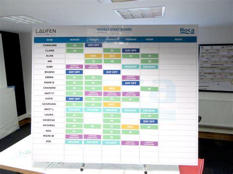 custom printed magnetic staff board  office planner