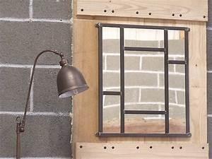miroir metal style industriel micheli design With superb meuble style maison du monde 15 miroir de style industriel design
