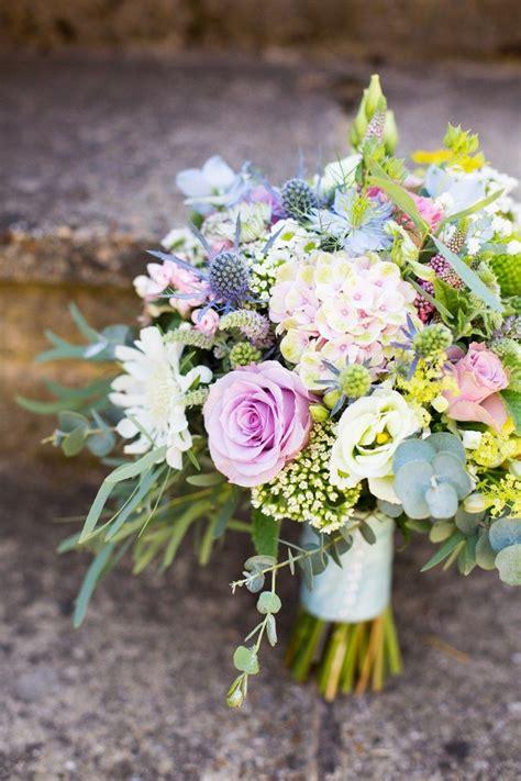 Pretty Pale Blue And Fresh Summer Wedding Flowers Summer