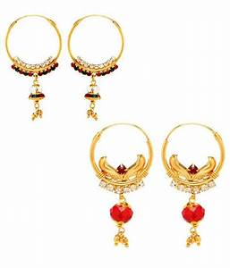 Gold Plated Daily Wear Hanging Earring Combo by GoldNera ...