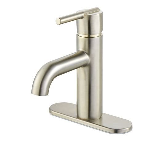 single hole bathroom sink faucet brushed nickel pfister fullerton brushed nickel 1 handle single hole 4 in