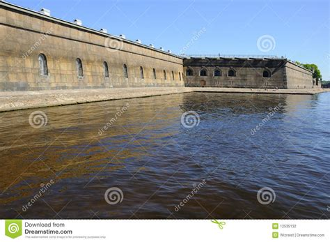 granite wall of and paul fortress stock photography