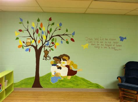 Child S Room Wall Nz by Church Nursery Mural Sunday School Room Ideas