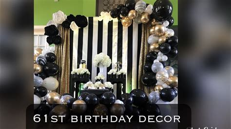 st birthday party decor black white  gold balloon