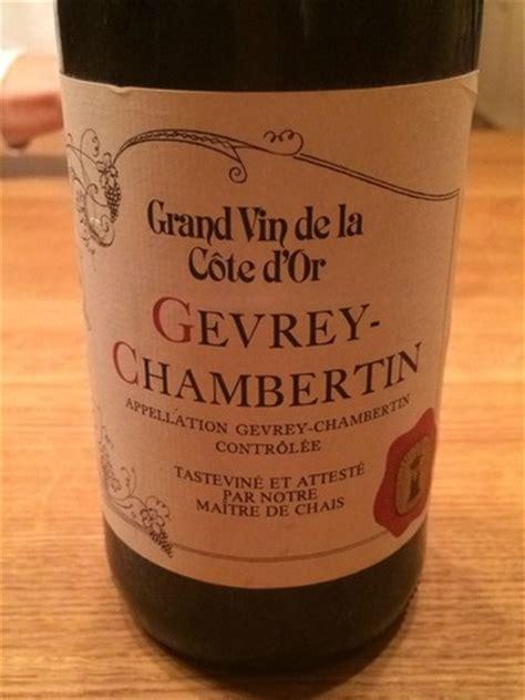 grand chais de maître de chais gevrey chambertin grand vin da la cote d