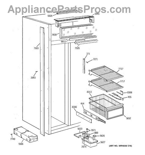 parts  ge zissdaass freezer section parts appliancepartsproscom