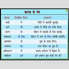 कारक तथा कारक के भेद  Case And Types Of Case In Hindi Youtube