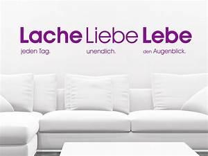 Lieben Leben Lachen : wandtattoo spruch lache jeden tag liebe unendlich lebe den augenblick spr che als ~ Orissabook.com Haus und Dekorationen