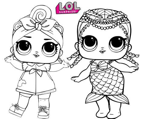 merbaby mermaid    baby lol surprise coloring page