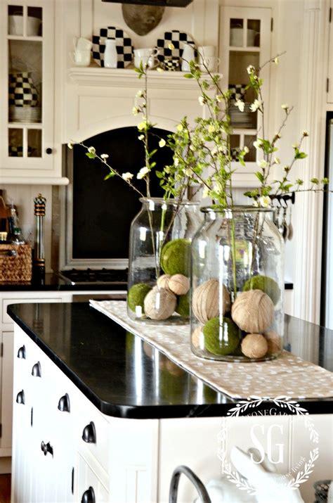 kitchen island centerpieces farmhouse island vignette vignettes and