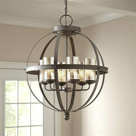 Globe Chandelier Lighting by Modern 6 Light Globe Chandelier Orb Pendant Lighting Glass