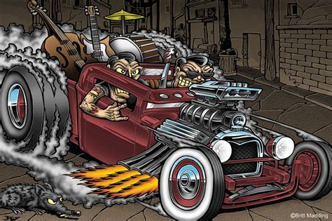 Rockin Roll Hot Rod By Britt8m.