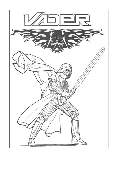 Darth Vader Coloring And Coloring Pages On Pinterest