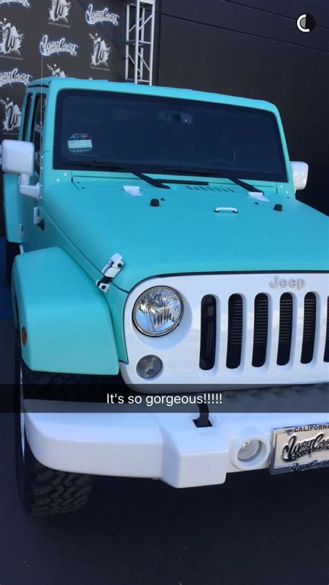 matte light blue jeep jeffree star s custom matte tiffany blue jeep jeep