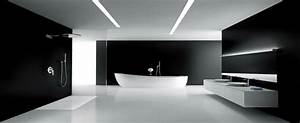 Modern black and white bathroom maison valentina blog for Black and white modern bathroom