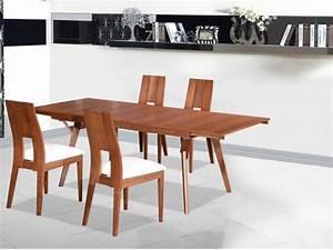 Table à Manger Pas Cher : ensemble table extensible kalanna 6 8 couverts 4 chaises table manger vente unique ~ Teatrodelosmanantiales.com Idées de Décoration