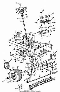 Mtd 14au845h062  1999  Parts Diagram For Axle Front  Wheel