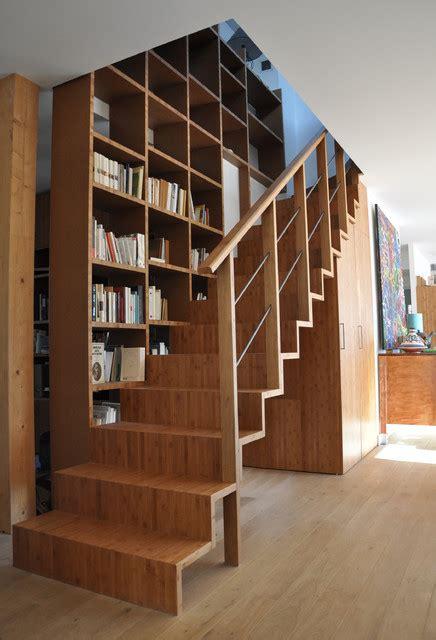 maison individuelle en ossature bois moderne escalier dijon par roncara architecte