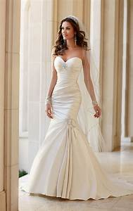 wedding dresses strapless fit and flare wedding dress With strapless fit and flare wedding dress