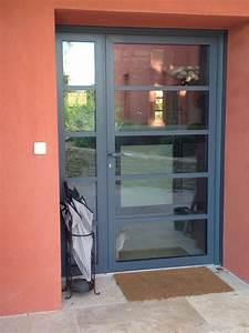 Porte D Entrée Vitrée Aluminium : installation de porte d 39 entr e en aluminium vitr e sanary ~ Melissatoandfro.com Idées de Décoration