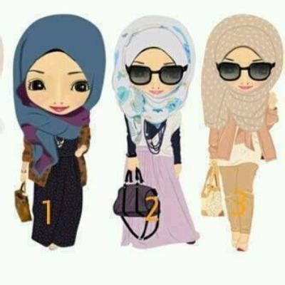 Anime Cantik Islami Gambar Kartun Islami