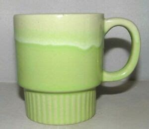 The history of coffee dates back to 850 ce, and possibly earlier with a number of reports and legends surrounding its first use. Vintage Green Drip Glaze Coffee Mug Cup Stackable 1960s ...