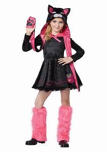 Girls Sassy Cat Costume