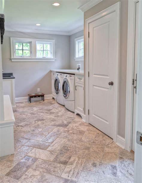 flooring for laundry room laundry room floor tile tumble 8x16 silver travertine house pinterest