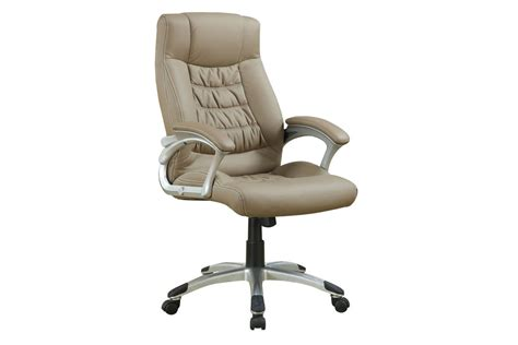 beige leather office chair 800205