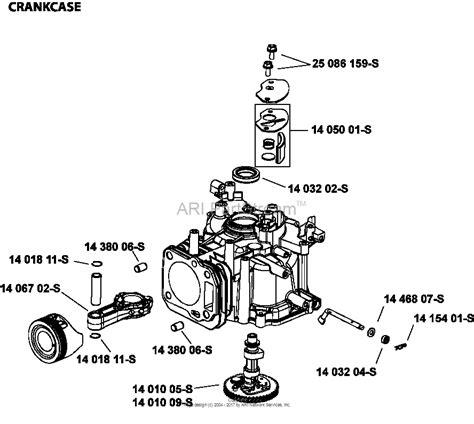 Husqvarna Kohler 149 Cc Carburetor Diagram by Kohler Xt149 3311 Husqvarna Parts Diagram For Crankcase