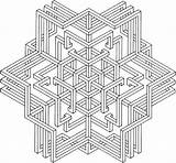Geometric Coloring Pages Complex Getdrawings sketch template
