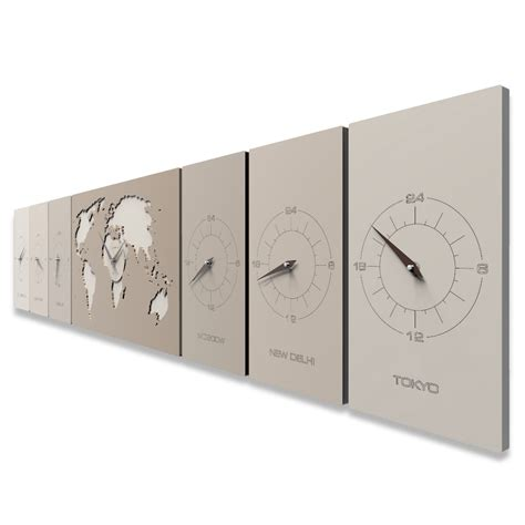 pendule moderne cuisine cosmo horloge murale de bureau avec les fuseaux horaires