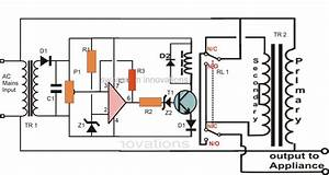 Manual Voltage Stabilizer Circuit Diagram