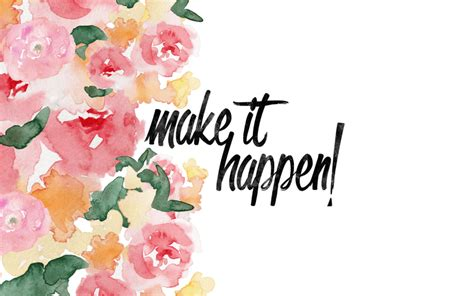 Make It Happen | January Desktop Wallpaper | Pink on the Cheek