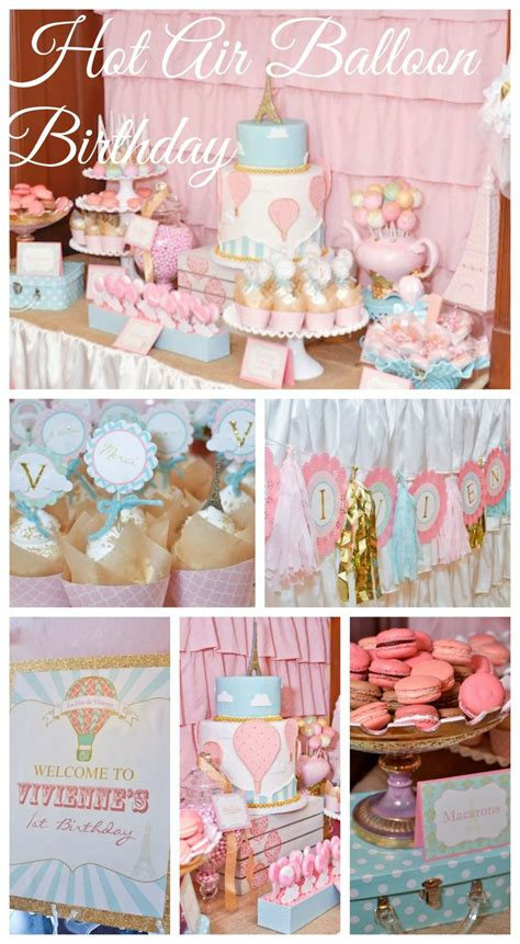 Hot Air Balloon Girl 1st Birthday See More Party Ideas At