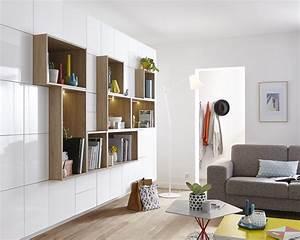Salon Complet Ikea : un mur complet de rangement leroy merlin ~ Dallasstarsshop.com Idées de Décoration