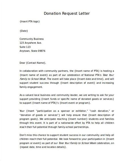donation request letter   majority  cases folks