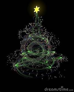 Neon Christmas Tree Concept Royalty Free Stock s