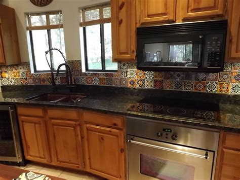 mexican tile kitchen mexican tile backsplash cabinet hardware room 4115