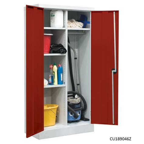 How To Keep Clothes In Cupboard by Janitors Utility Cupboards 5 Compartments Clothes Rail