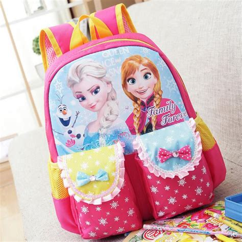 baby princess elsa backpacks school student tangled snow white book bags