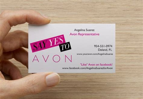 excited  receive   avon business cards