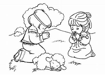 Bible Coloring Pages Cartoon Printable Child Paying